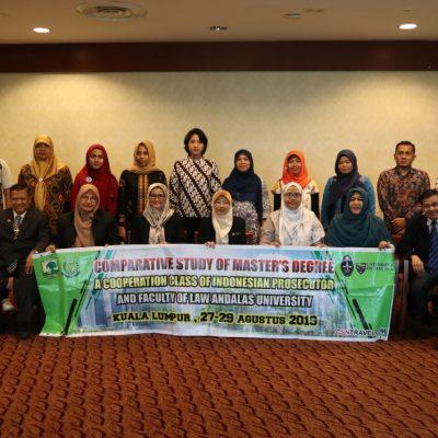 Kejaksaan Tinggi Sumbar dan Mahasiswa Paska Sarjana UNAND study tour ke Peguam malaysia, malaya Univ, Kelantan Univ.
